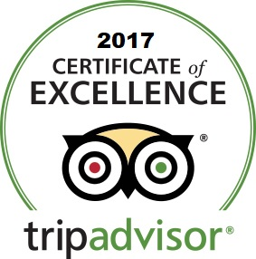 The Green Roof Inn received the Trip Advisor 2017 Certificate of Excellence Award
